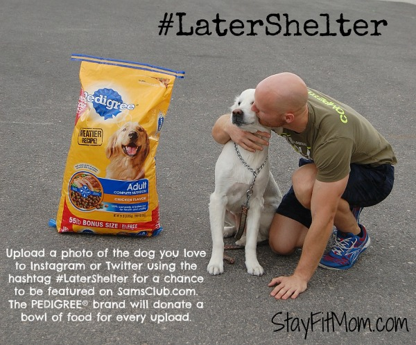 Help a dog in need by purchasing PEDIGREE® dog food in the month of October! #latershelter