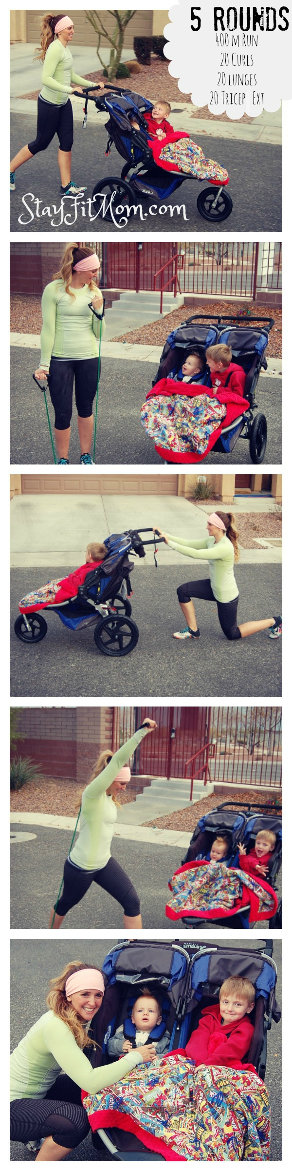 StayFitMom.com's functional fitness stroller workout for those crazy days when the gym's not going to happen!