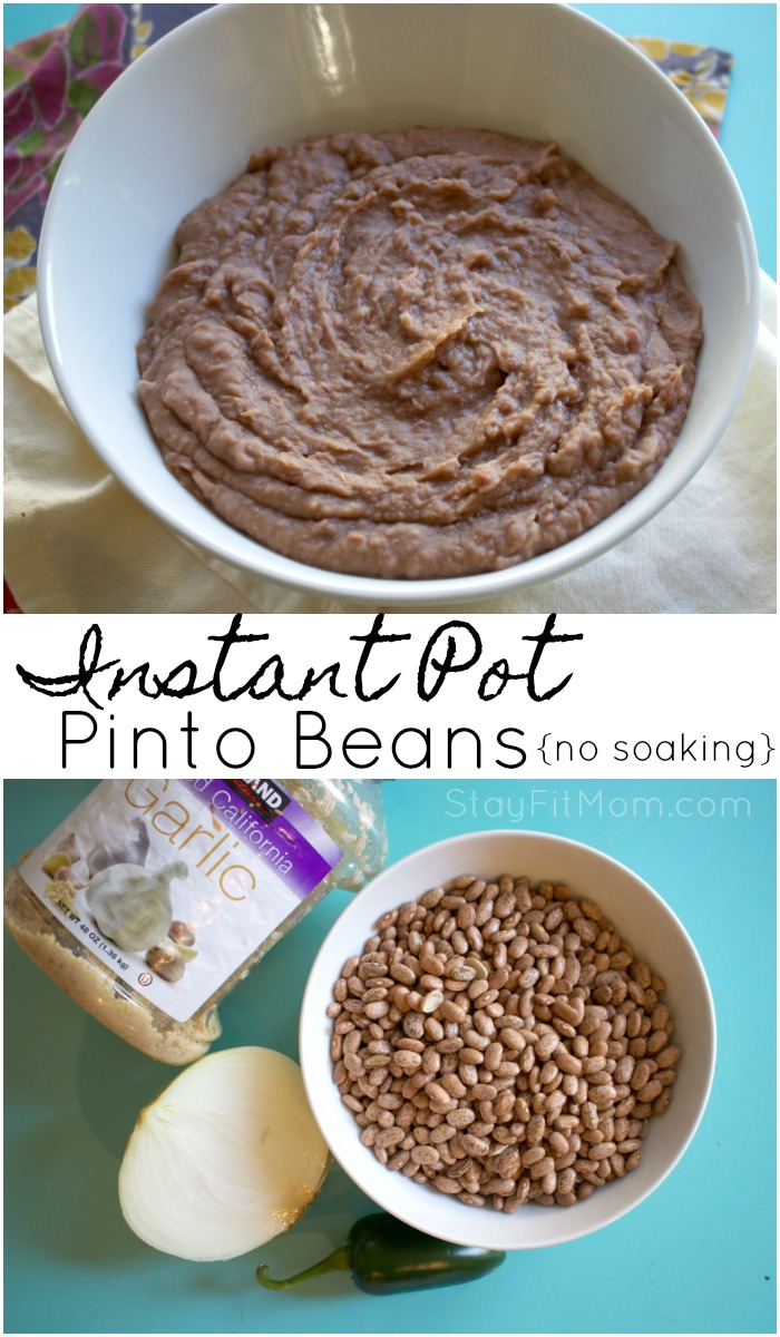 Healthy, non fat, macro friendly pinto beans in 60 minutes!