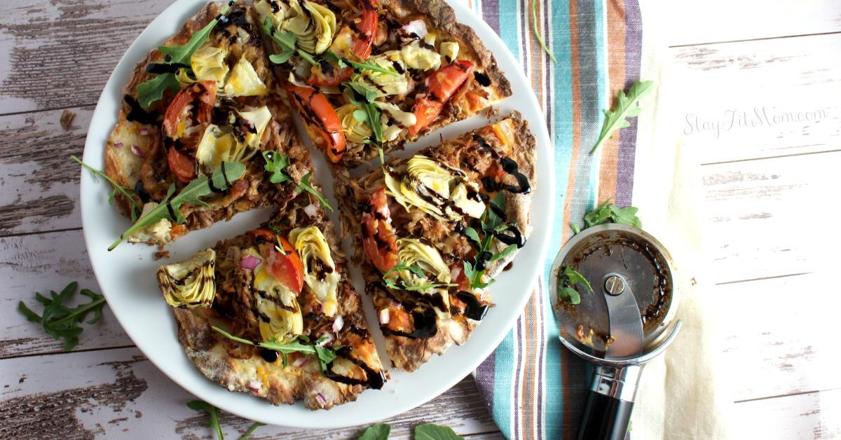 2 Ingredient Pizza Dough {High Protein}