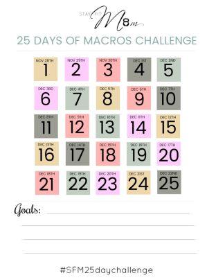 25 days of macros challenge #stayfitmom #macros #iifym #macrodiet