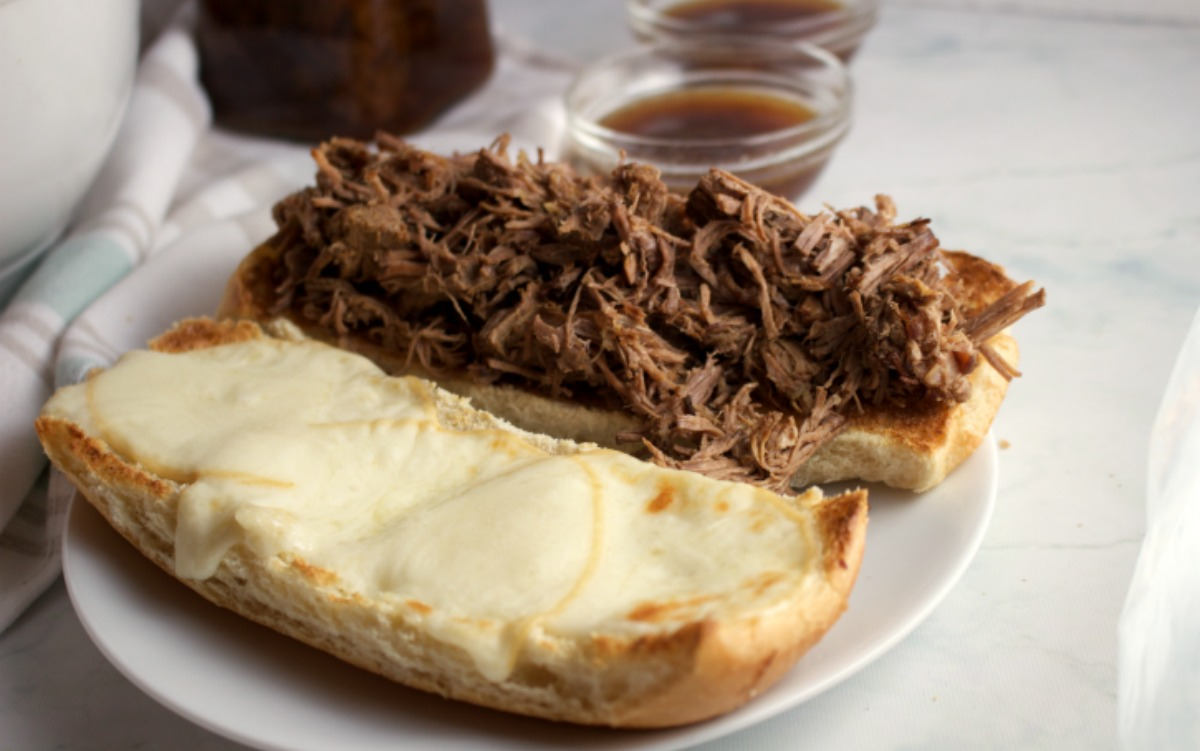 French Dip Sandwiches {Instant Pot or Slow Cooker}