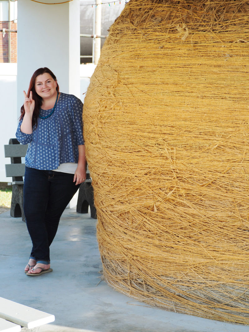 Cawker City, Kansas, has the world's largest ball of sisal twine. It is over 43 feet in circumfrance and over 20,000+ pounds! | Stay gold Autumn
