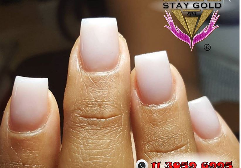 uñas esculpidas standar pink