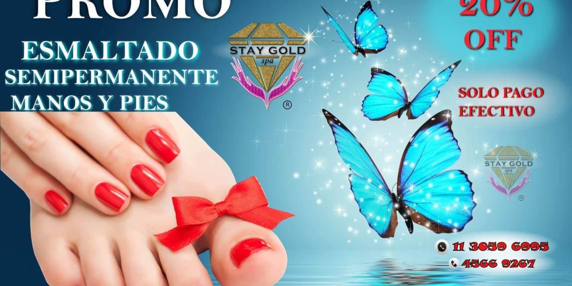 Promo vacaciones 2017 Esmalte Semipermanente en manos y pies
