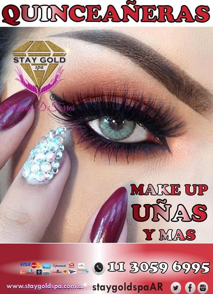quinceañeras make up y uñas esculpidas