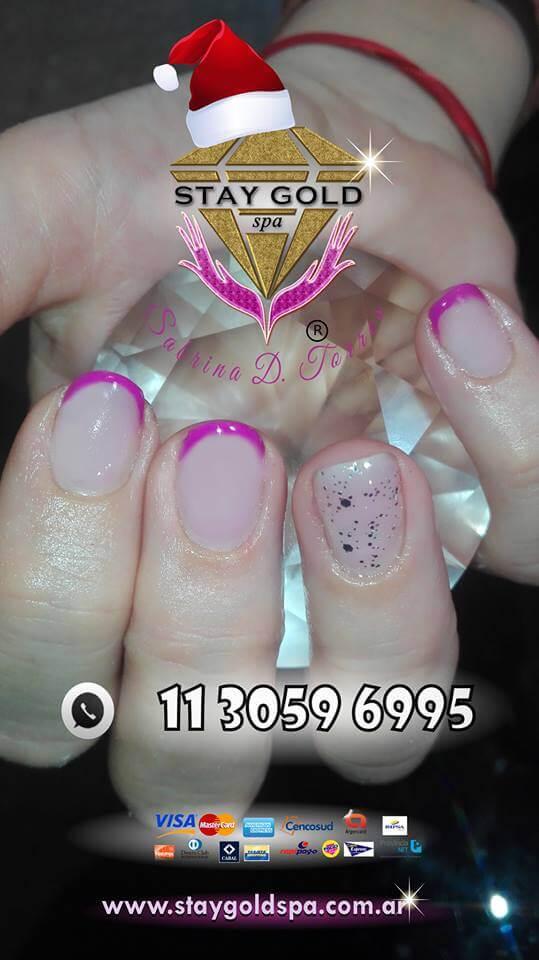 uñas gelificadas francesitas rosas