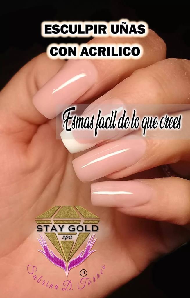 curso uñas esculpidas acrilicas online y presencial