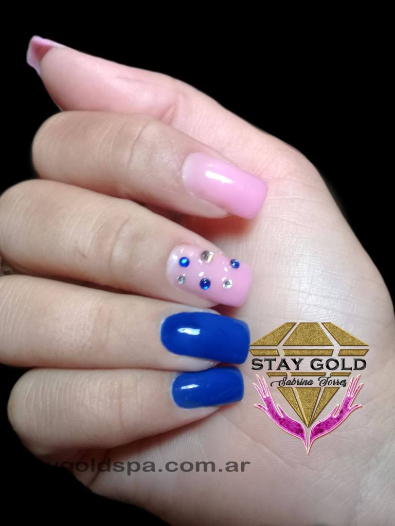 press on nails azules