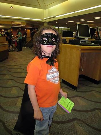 Superhero Andrew (aka Zorro)
