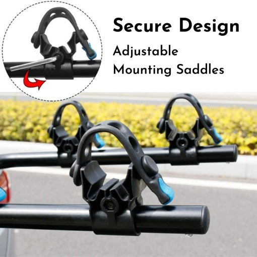 Tow Bar Bike Rack 4 Bicycle Carrier Mount Product Photo - Adjustable Securing Straps
