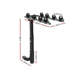 Tow Bar Bike Rack 4 Bicycle Carrier Mount Sizing Specifications