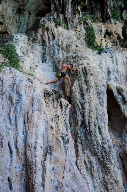Brenton Beginner Rock Climbers | Railay Beach - Thailand |  Stay Lost