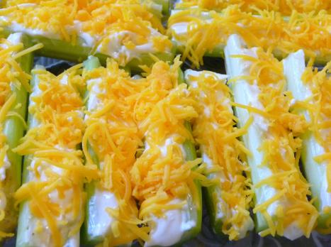Low Carb Stuffed Celery Snacks