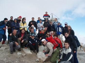 Planinari na vrhu Musale 2925 m