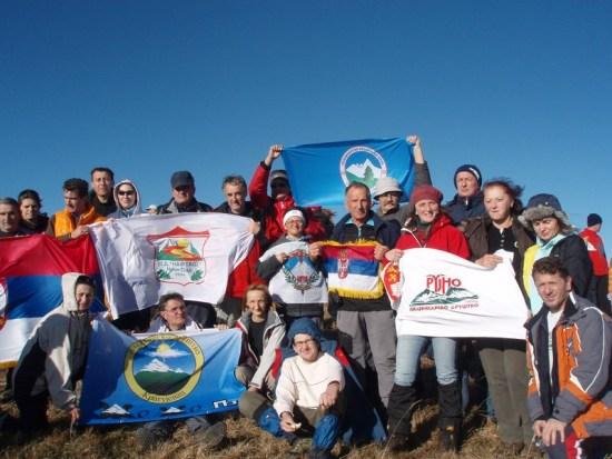 Planinari na vrhu Satorice 1750 m