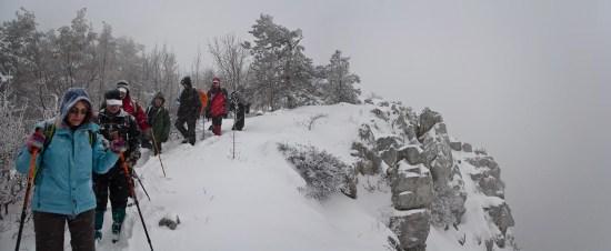 Zima na vrhu Malog Vukana