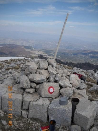 Obeležje vrha V.Jastrebovice (1865 m)