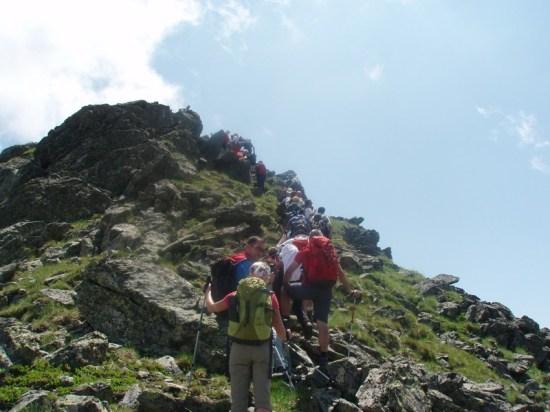 Završnica uspona vrh na vidiku