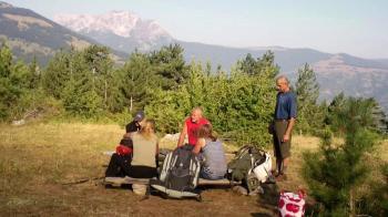 Pogled iz kampa na Štanu i Komove