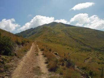 Na kraju grebena vrh Ćemena
