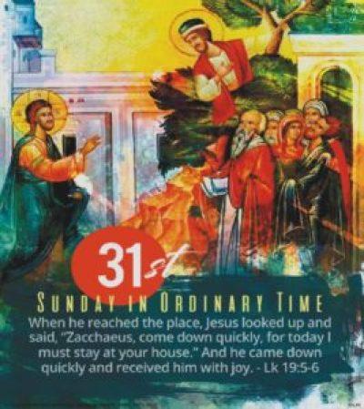 31st Sunday image: Zacchaeus and Jesus