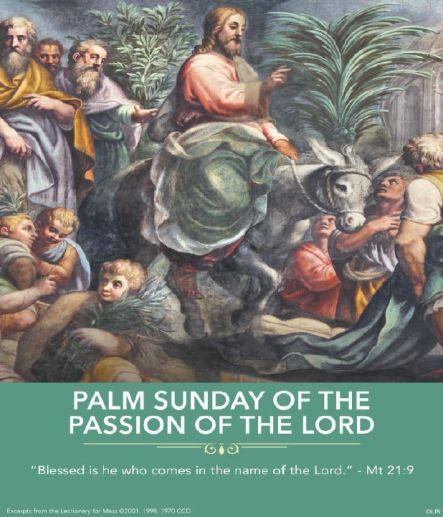 Palm Sunday Image of Jesus on colt