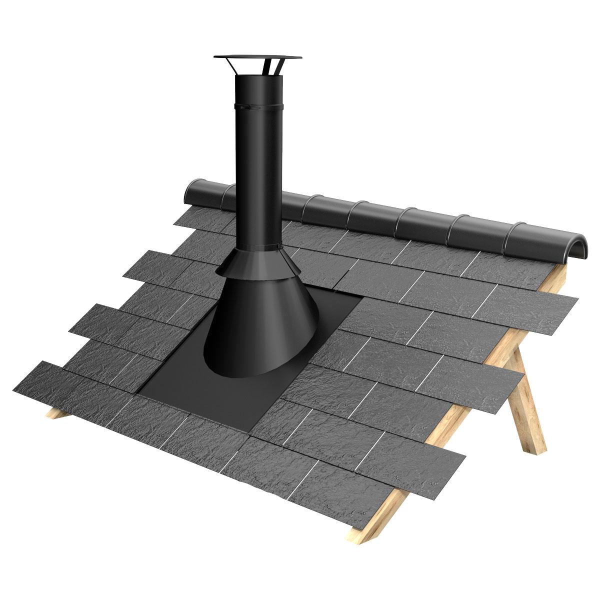 kit sortie de toiture 150 200 noir