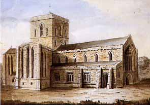 Old St Chad's from the north west before the collapse of 1788