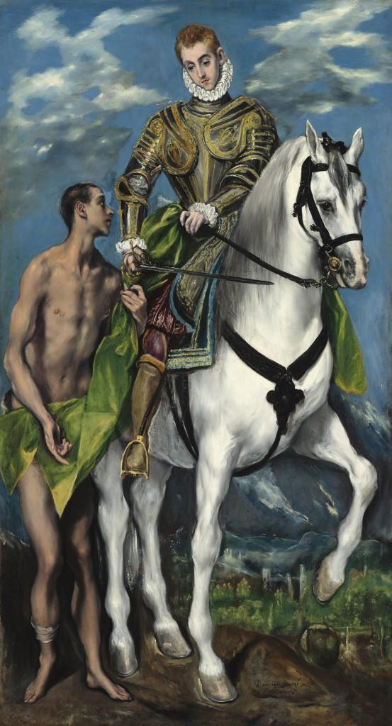 Saint Martin and the Beggar, El Greco, 1597-1599, National Gallery of Art (Washington, DC)