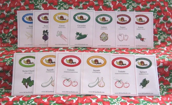Container Vegetable Garden Seed Collection - St. Clare Heirloom Seeds
