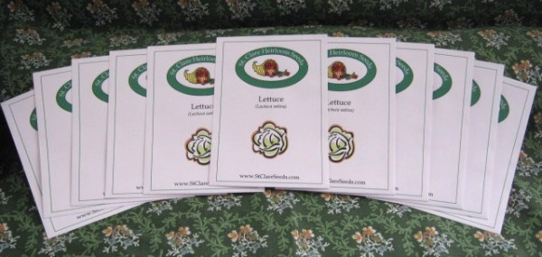 Lettuce Garden Seed Collection - St. Clare Heirloom Seeds