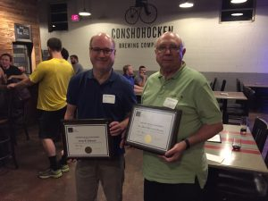 Donn DeBoard and Al Brown accept their awards for 30 years of STC membership.