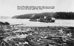 Logging and steamboats on the St. Croix River