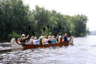 The voyageur canoe owned and operated by Dave Shanteau
