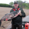 This 27 lb. Bighead carp was caught by commercial fishermen near Prescott on April 20. (MN DNR photo)