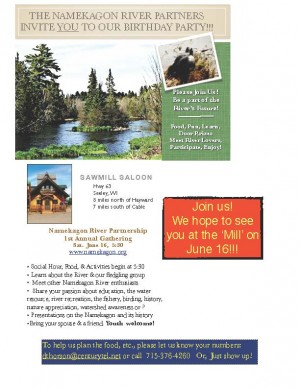 Namekagon River Partnership event invitation