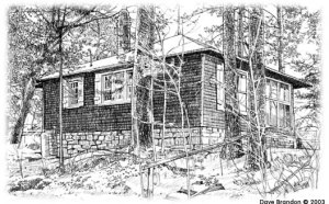 Pine Needles cabin, by Dave Brandon