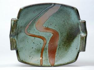 Serving plate by potter Guillermo Cuellar