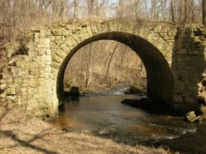 Historic stone bridge over Brown's Creek