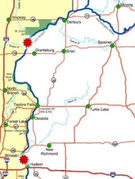 Map of Feb. 16 fatal snowmobile accidents