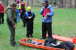 National Park Service search-and-rescue demonstration at Earl Landing