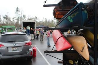 Kayaks and more kayaks.