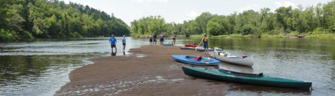 Clean-up paddlers in 2012