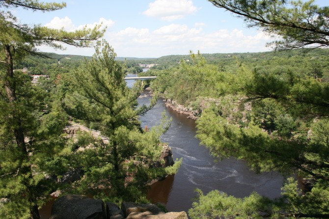 View of the St. Croix River from Summit Rock Trail, Interstate State Park