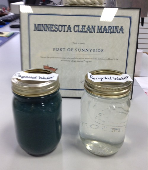 Recycled Water from the boat washing at Sunnyside Marina in Stillwater on the St. Croix River