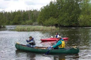 Paddling the upper river (National Park Service photo)