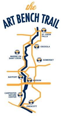 Art Bench Trail map