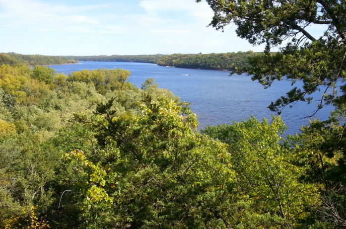 The Lower St. Croix River, seen from Belwin Conservancy