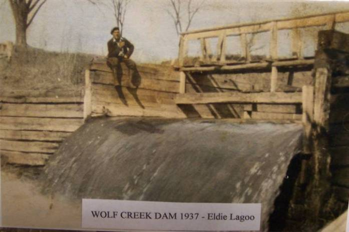 Wolf Creek Dam historic photo